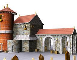 3D model castle basilica