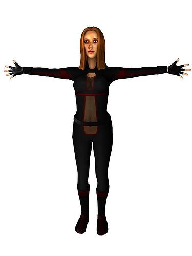black widow inspired char 3d model max tga 1