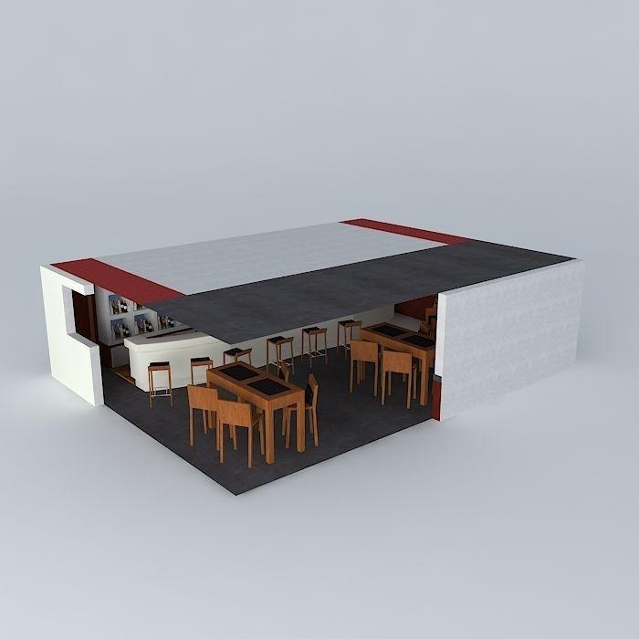 Wine bar free 3d model max obj 3ds fbx stl dae for Food bar 3d model