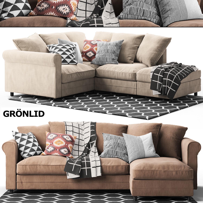 2 corner sofas GRONLID Ikea | 3D model