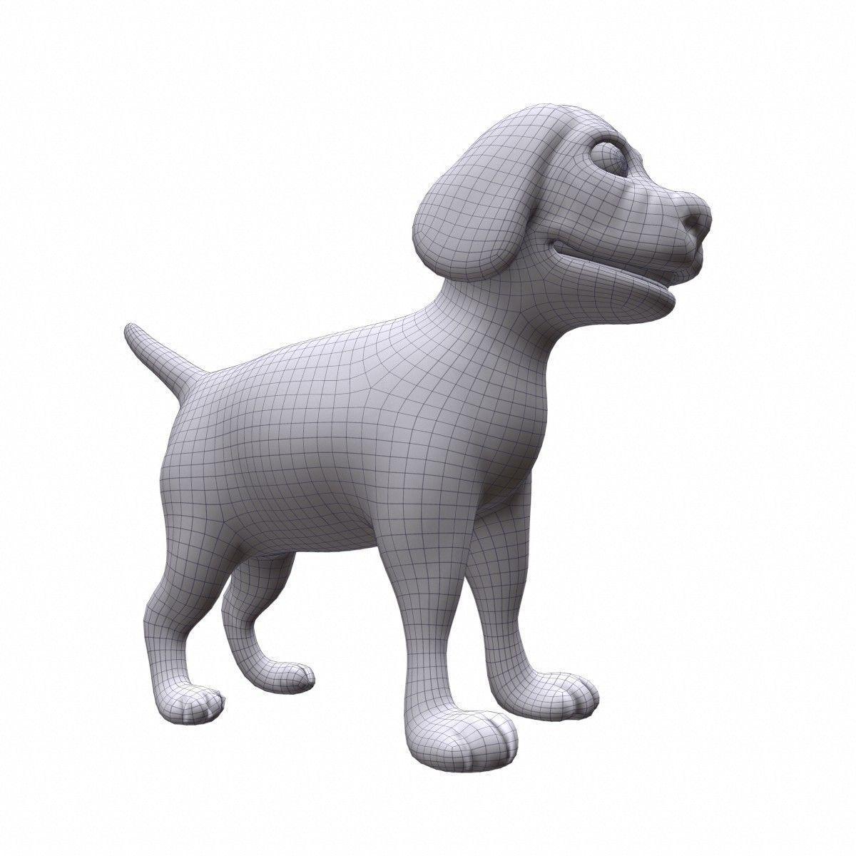 Cartoon Dog 3d Model Max Obj Fbx Ma Mb Cgtrader Com