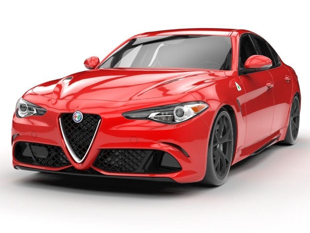 Alfa Romeo Models >> Alfa Romeo Giulia 2017 3d Model
