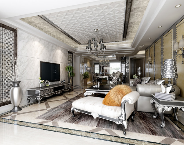 3d cozy and luxurious living room cgtrader for Living models