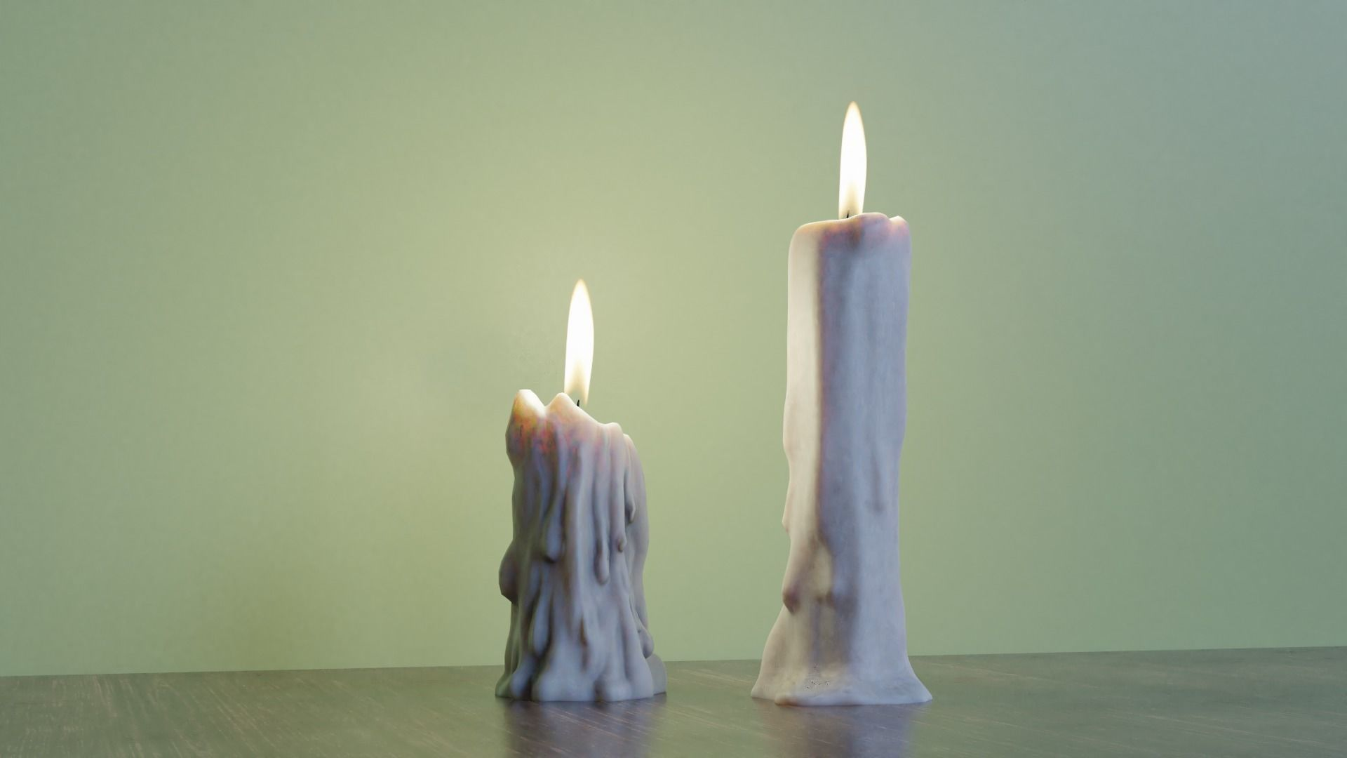 Candles Lowpoly