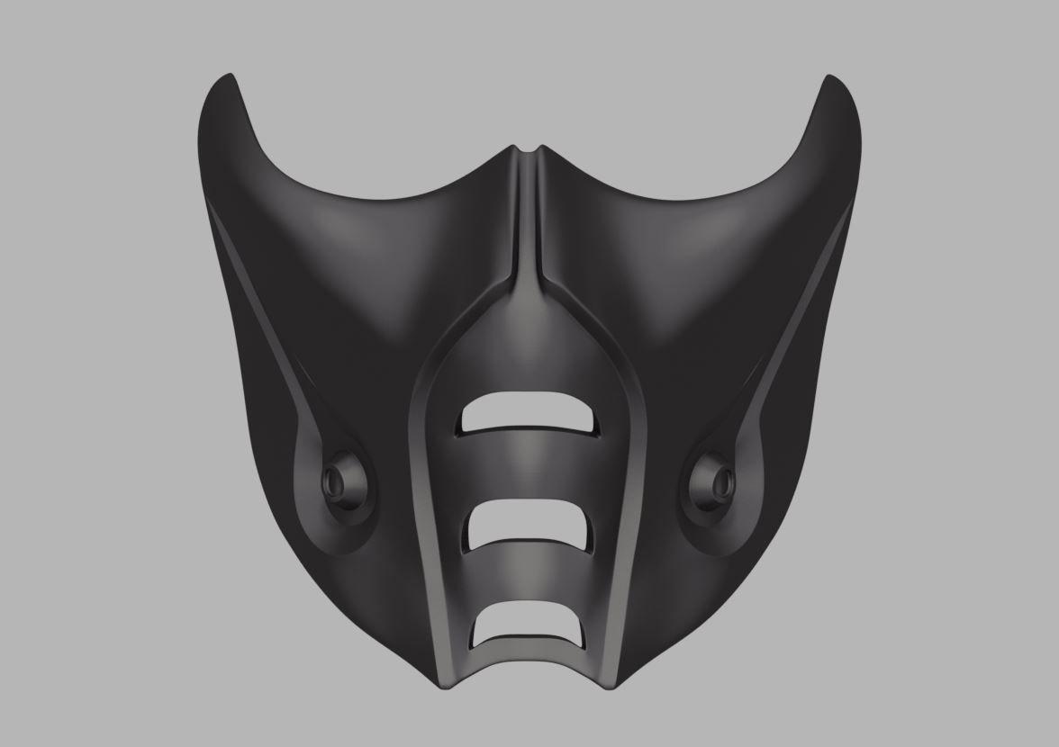 sub zero mortal kombat face mask
