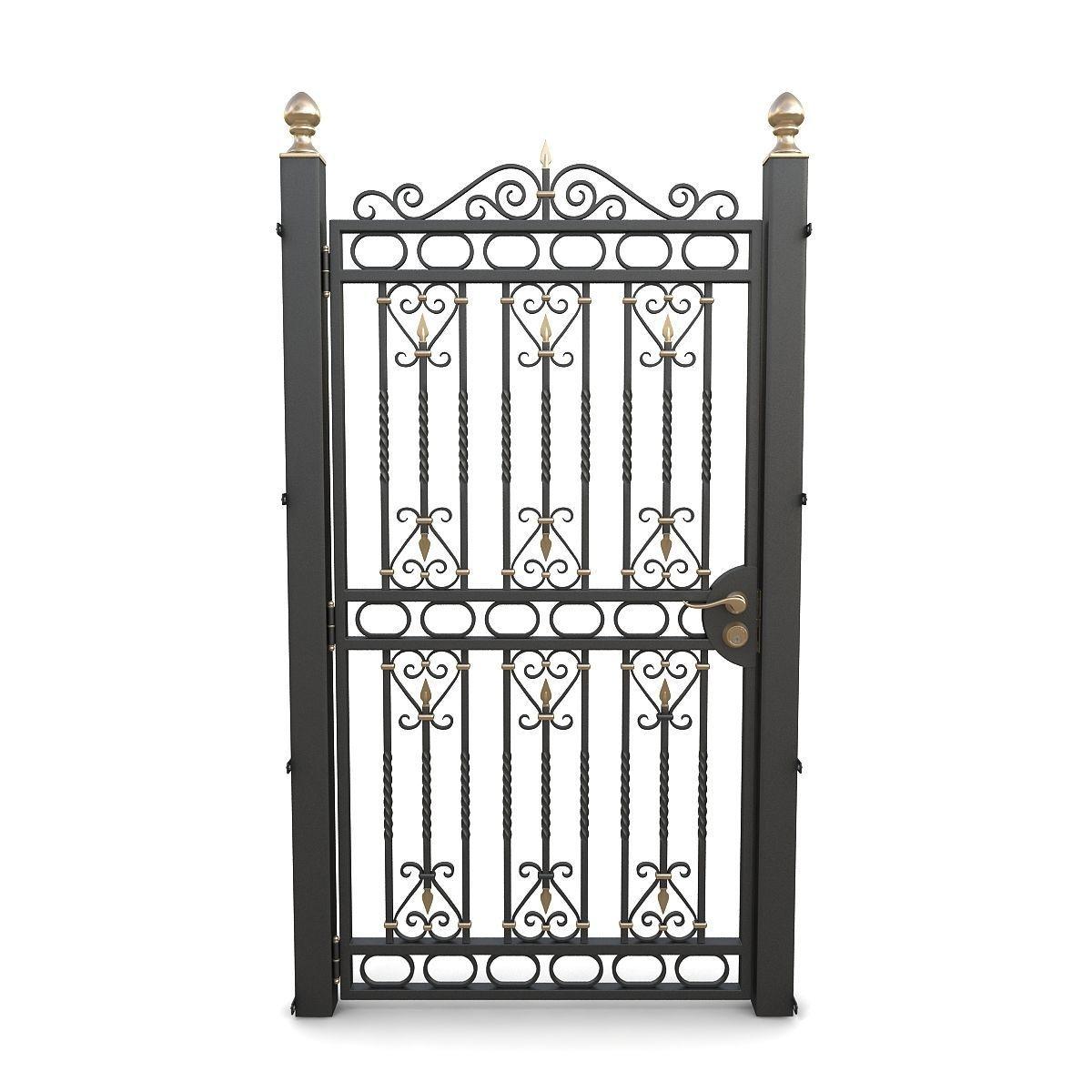 Wrought iron gate 03