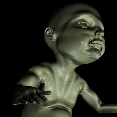 print ready baby seated 2 3d model stl 1
