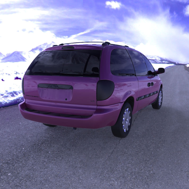 Chrysler Town Country LX Minivan 2002 3D Model OBJ