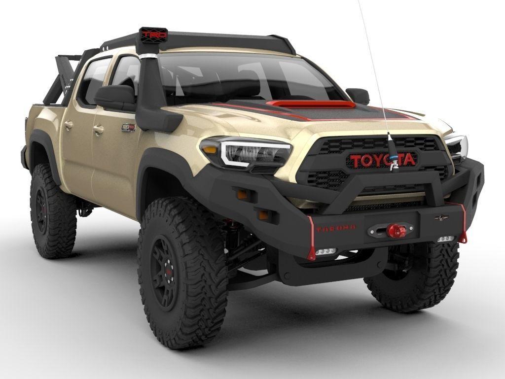 Toyota Tacoma Trd Pro 2020 Ecotenche Edition 3d Model
