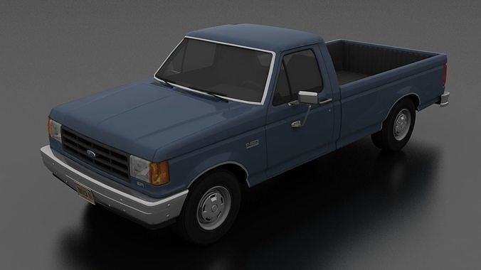 F 150 Custom >> Ford F 150 Custom Pickup Regular Cab 1987 3d Model