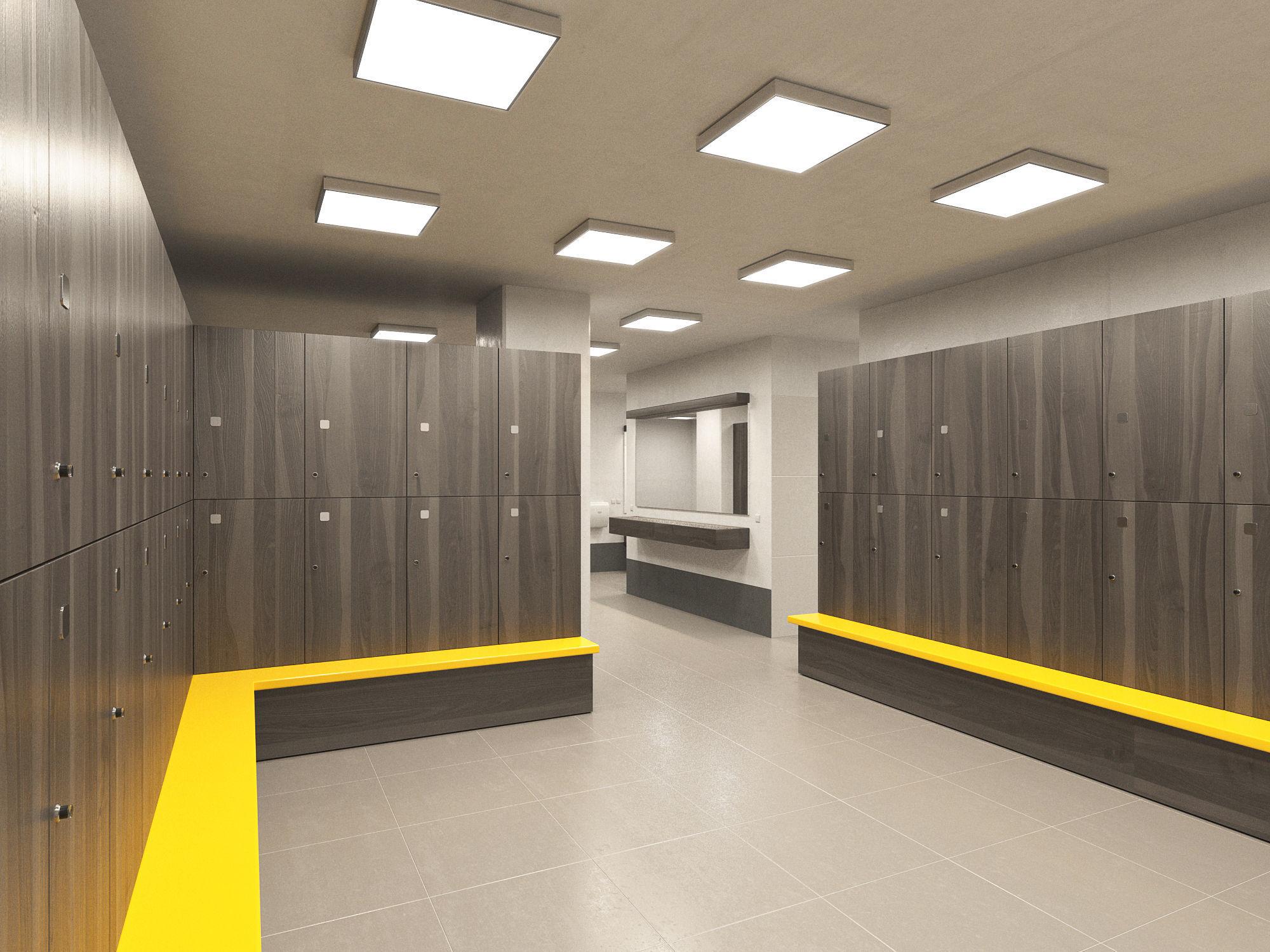Gym lockerroom d model max bip obj mtl fbx
