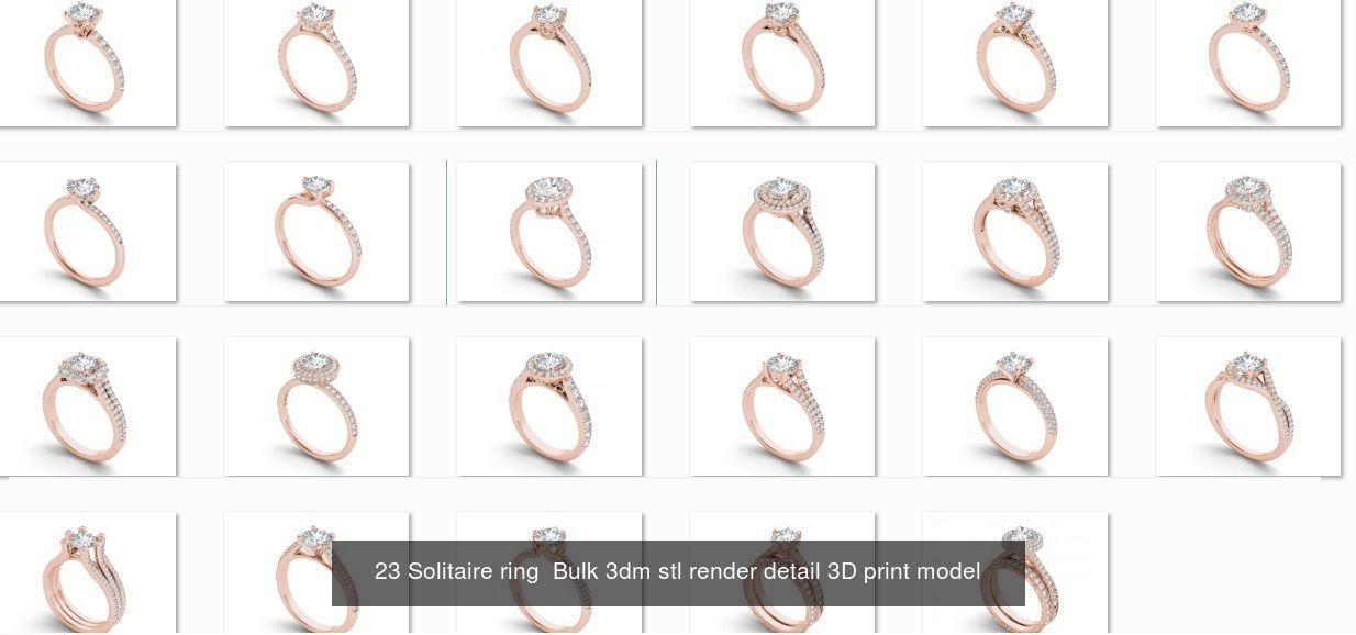 900 engagement wedding solitaire ring bulk collection