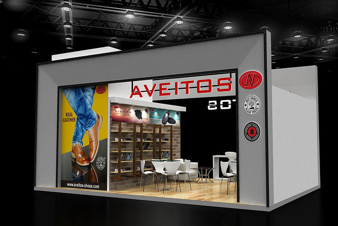 Exhibition Stand Shoes : D mtr side open shoes display exhibition stand