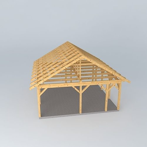 basic wood frame construction 3d model max obj 3ds fbx stl dae 3
