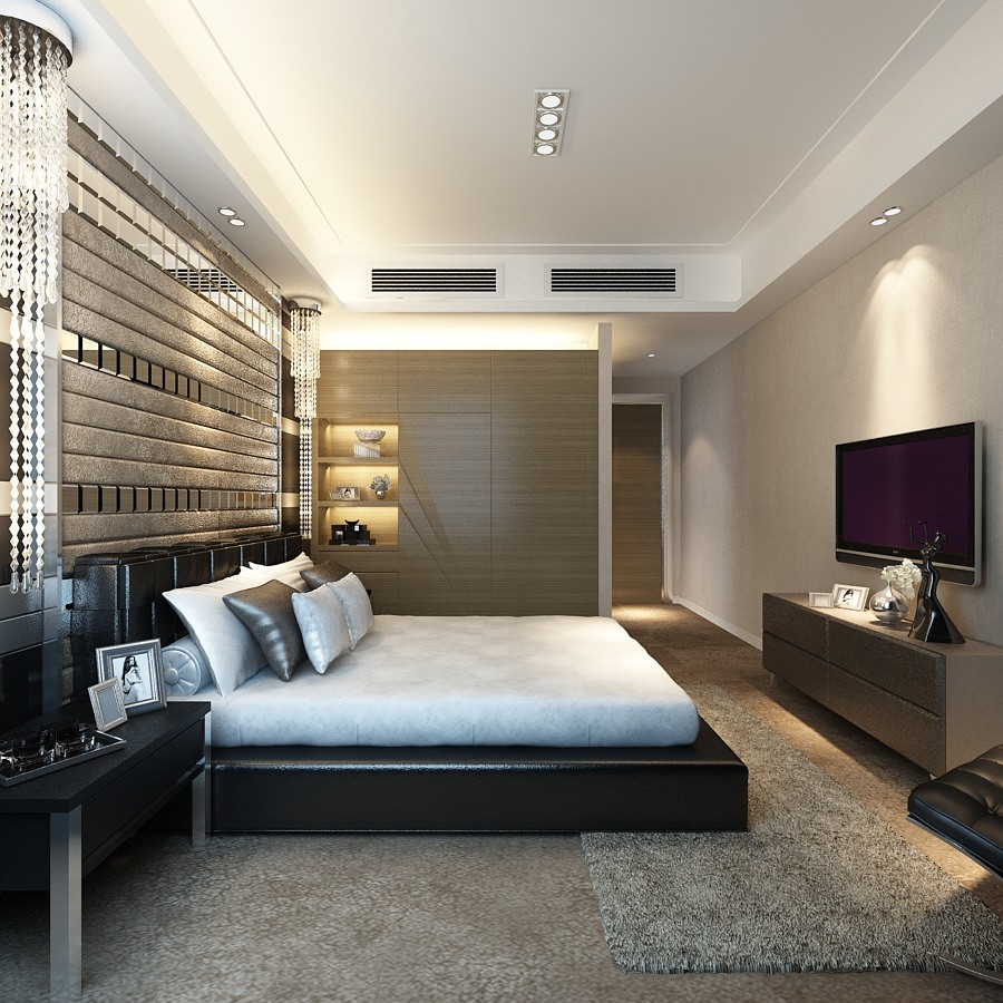 Very luxury bedroom 3d model max cgtrader com - Bedroom Or Hotel Room Photoreal Collection 3d Model Max