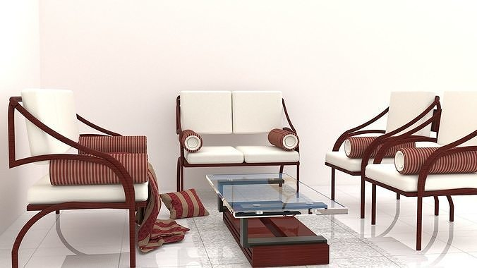 traditional cane chairs  3d model max 1