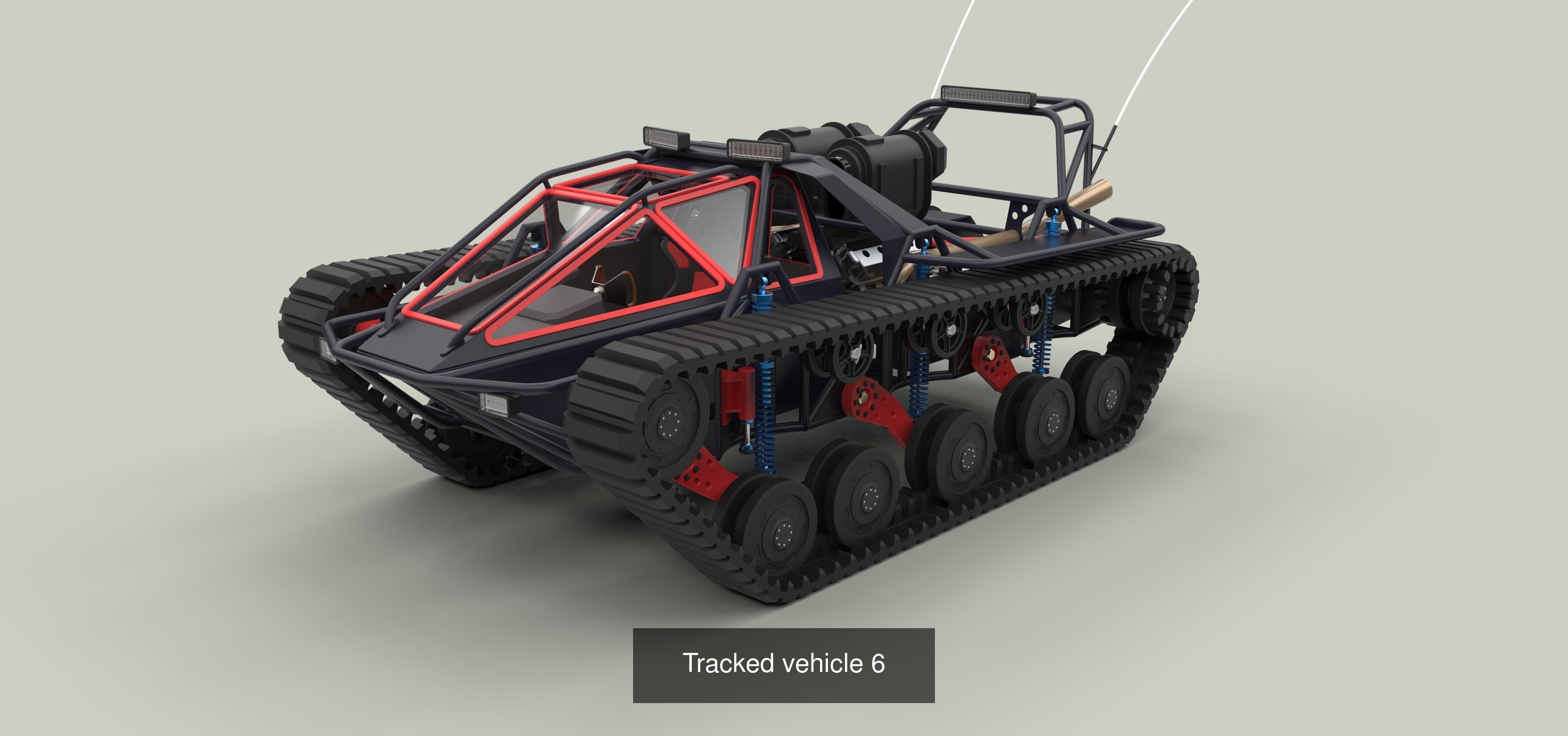 Powerful tracked vehicles