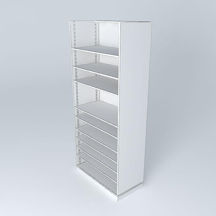 the shelf rack store maisons du monde 3d model max obj 3ds fbx stl dae. Black Bedroom Furniture Sets. Home Design Ideas