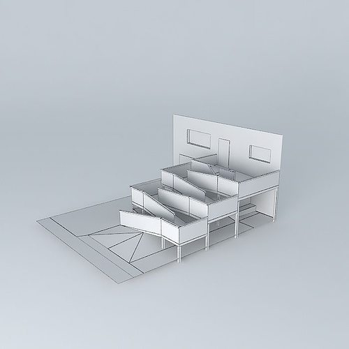 3d ada compliant wheelchair ramp design cgtrader