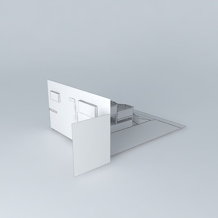 ADA Compliant Wheelchair Ramp Design Free 3D Model MAX OBJ 3DS FBX STL DAE