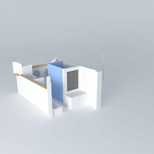 Overhead View Bathroom Design Free 3d Model Max Obj 3ds Fbx Stl Dae