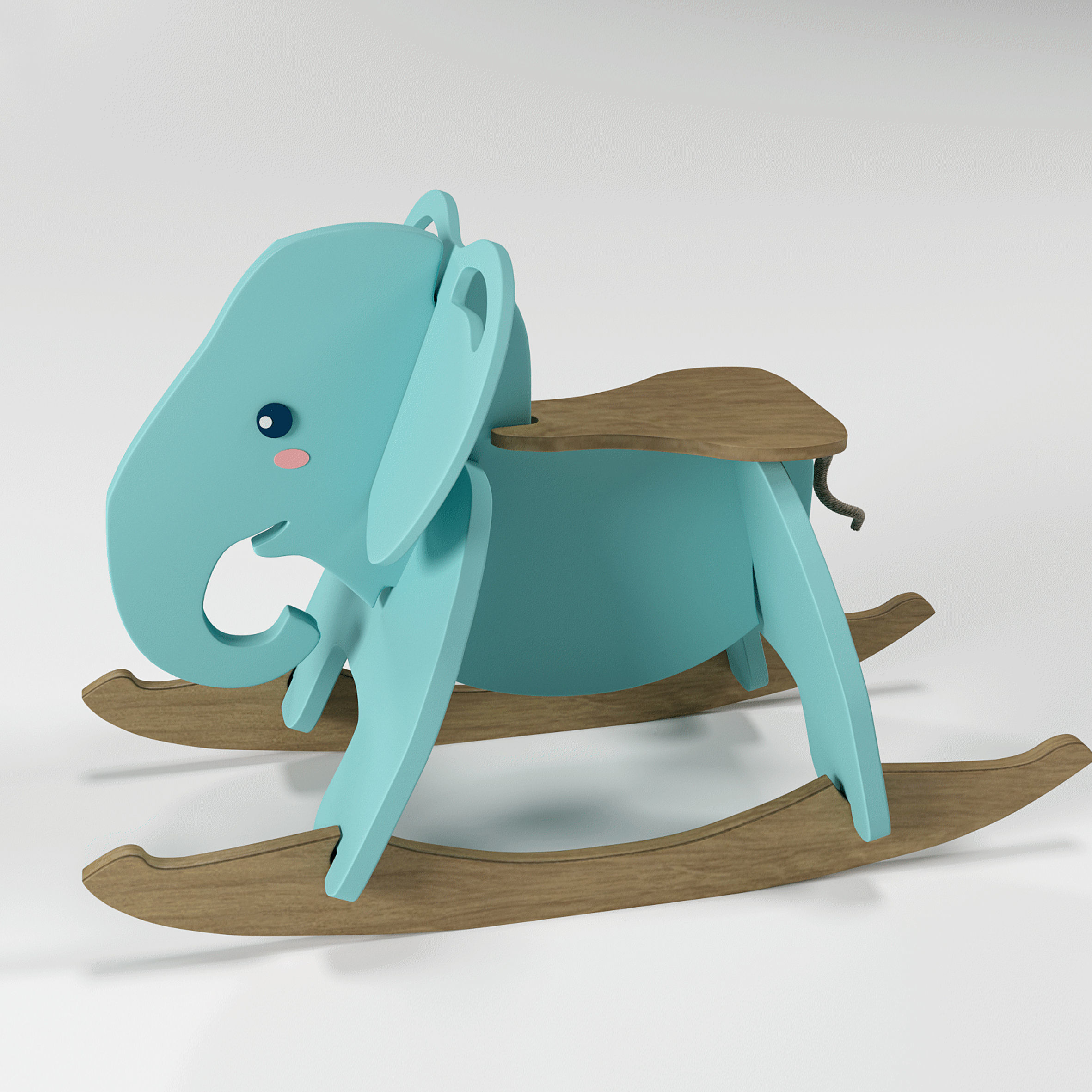 Elephant Rocking Chair 3d Model