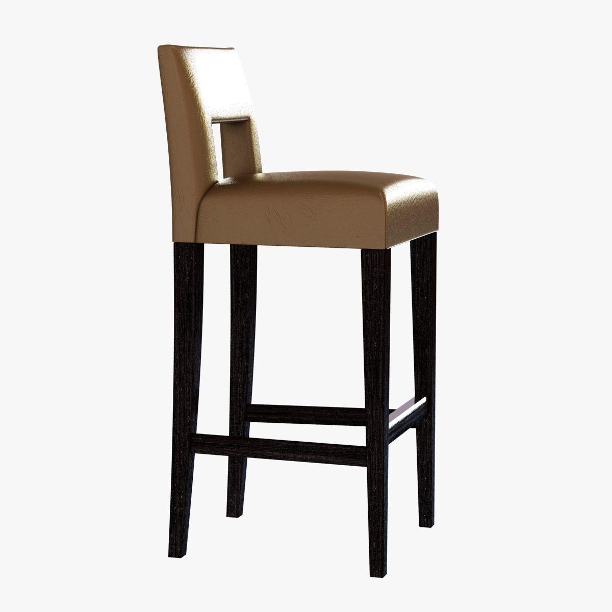 sofa and chair company hugo bar stool 3D Model MAX OBJ 3DS FBX MTL