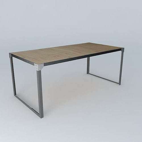 Dining table docks maisons du monde 3d cgtrader for Table maison du monde