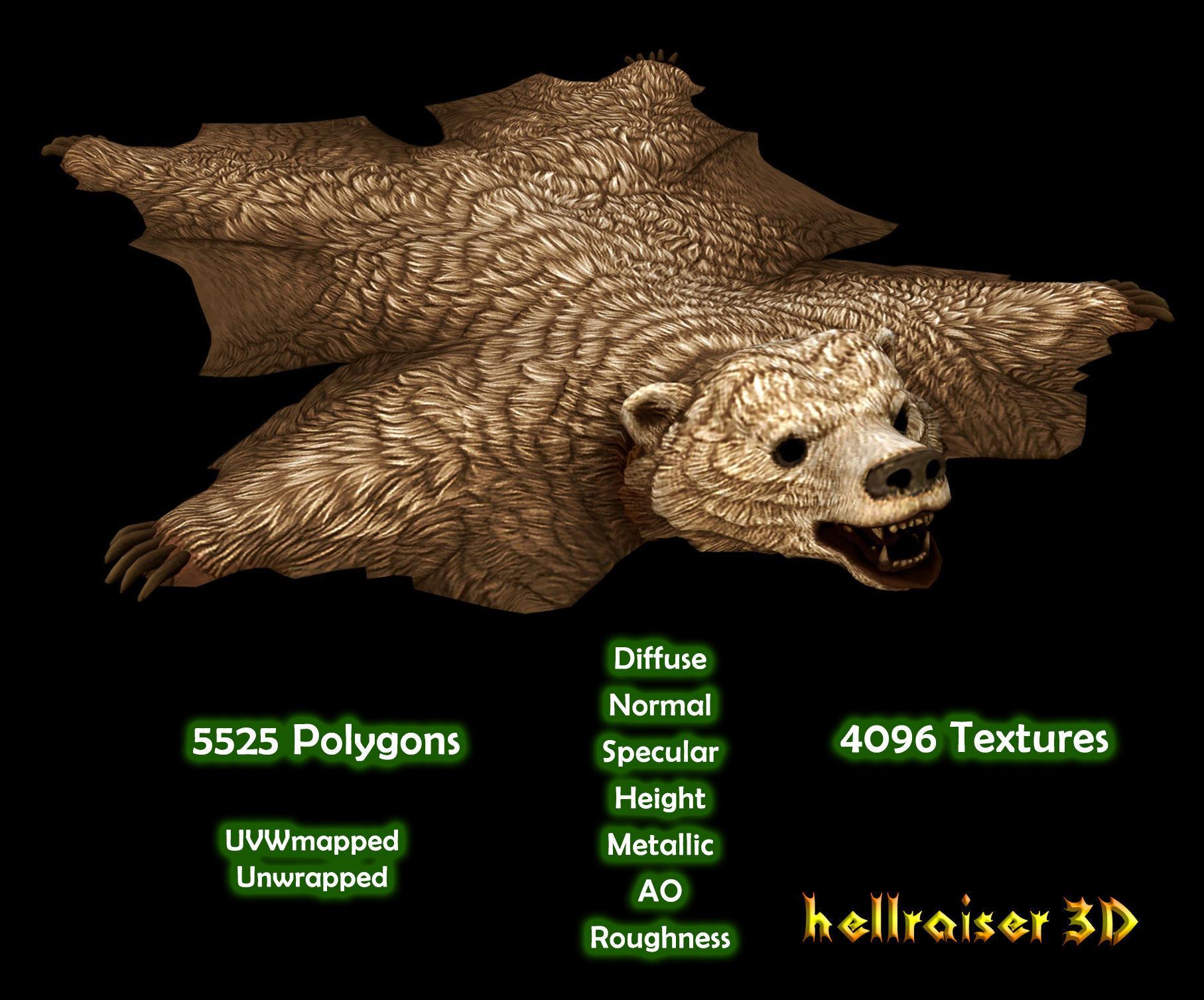 Bear Rug - PBR - Textured