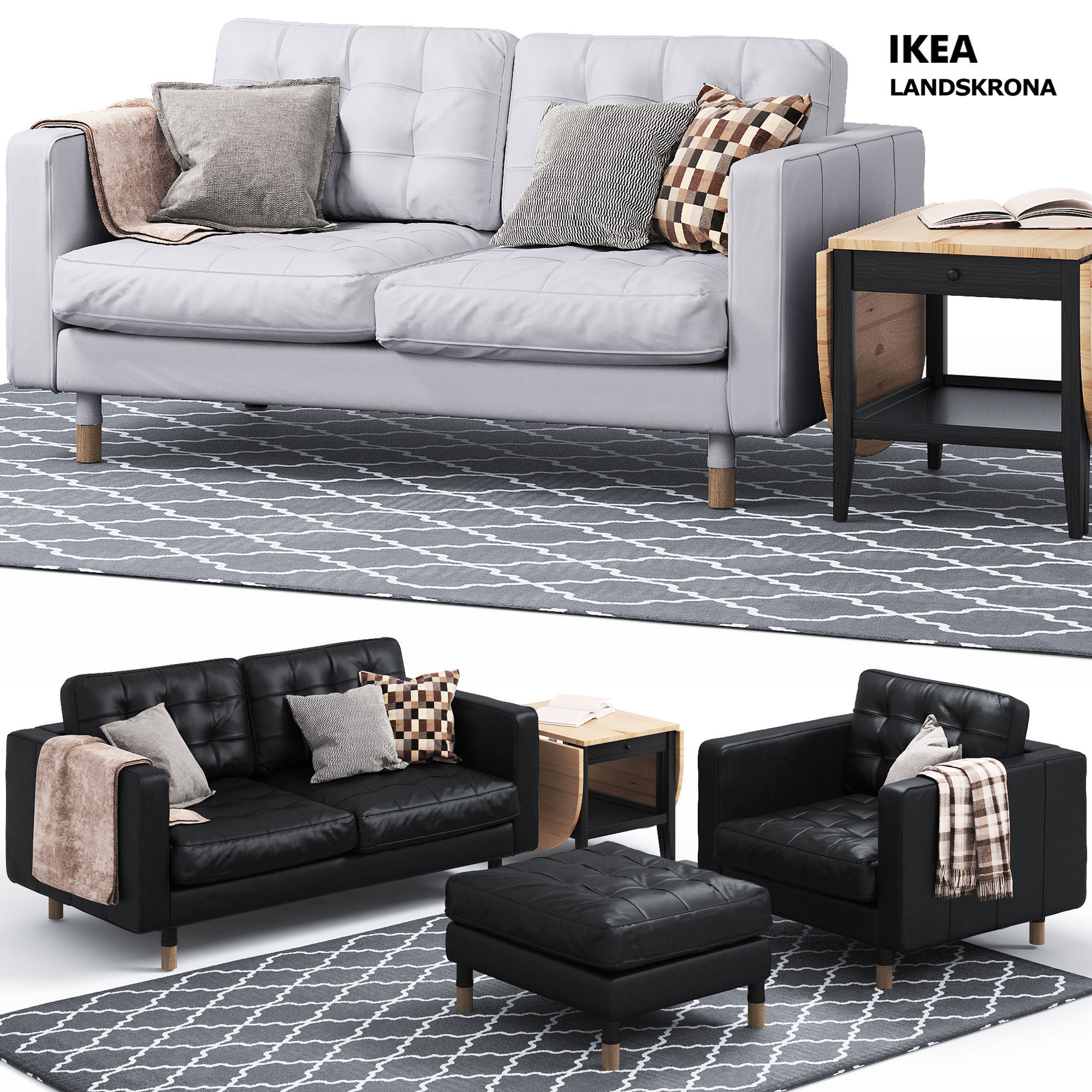 Sofa And Chair Landskrona Series Ikea