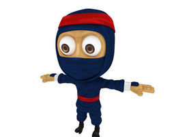 3D asset Cartoon ninja