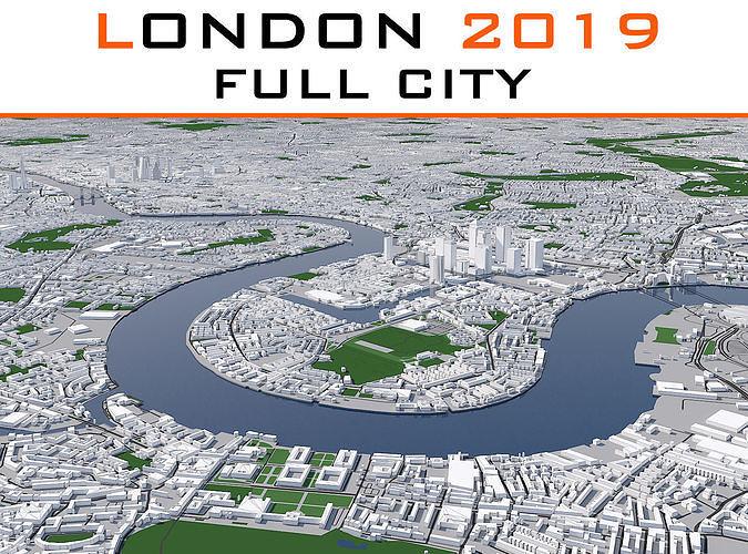 london full city 2019 3d model max obj mtl fbx dwg 1