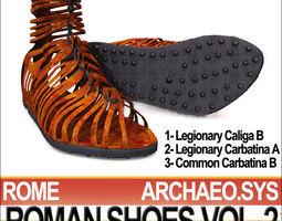 ancient roman shoes vol 2 caligae carbatinae 3d model obj 3ds c4d vue