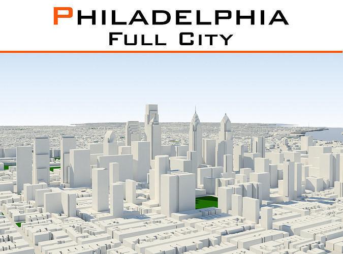 Philadelphia Full City   3D model