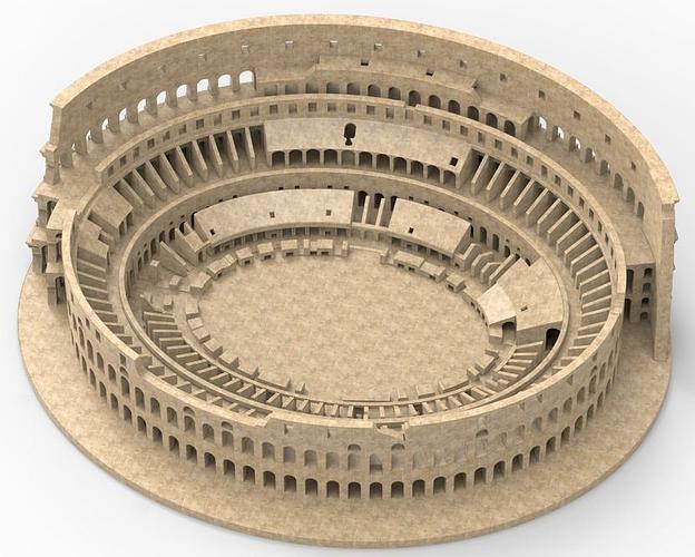 Colosseum 3D Model 3D Printable STL