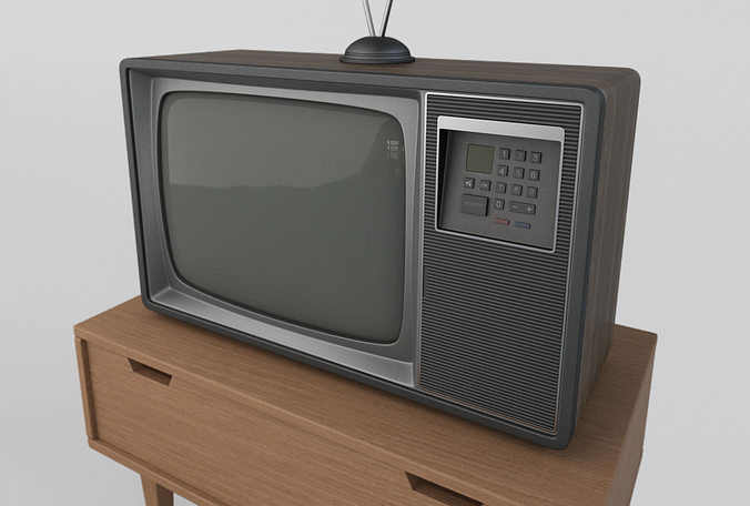 old retro tv 3d model max obj 3ds fbx mtl 1