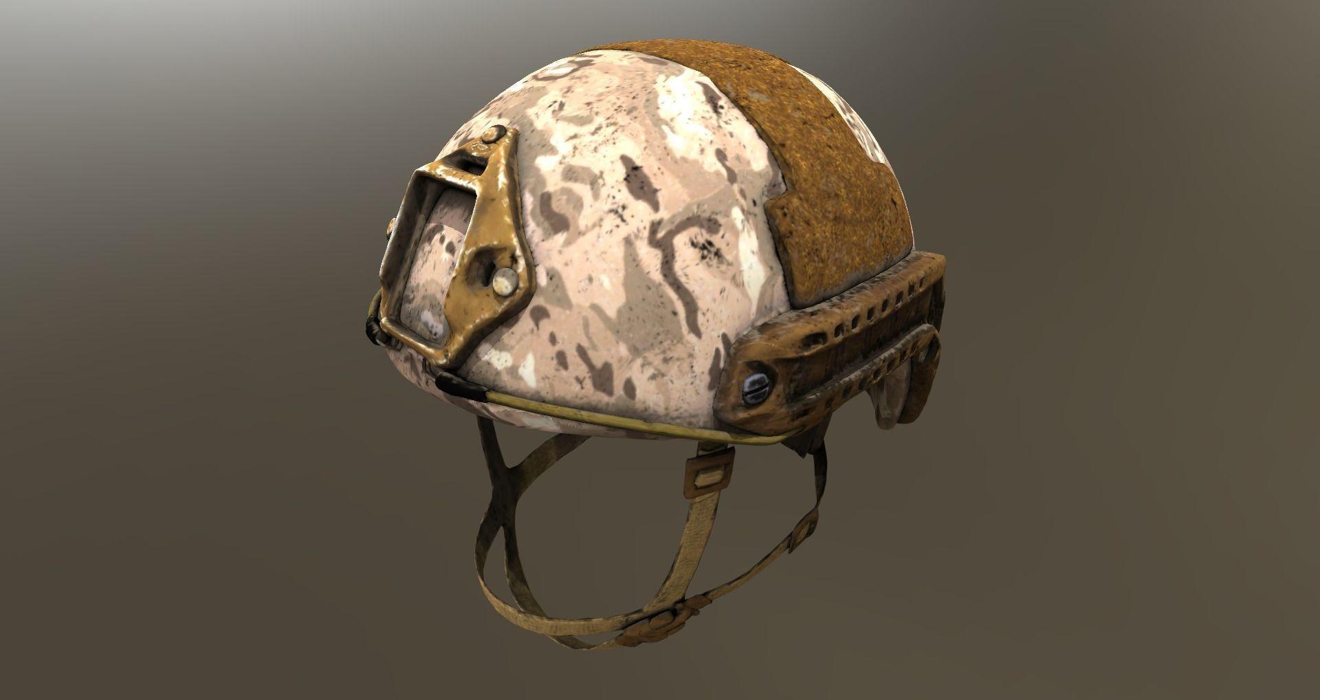 Three Ops-Core FAST Ballistic Helmets