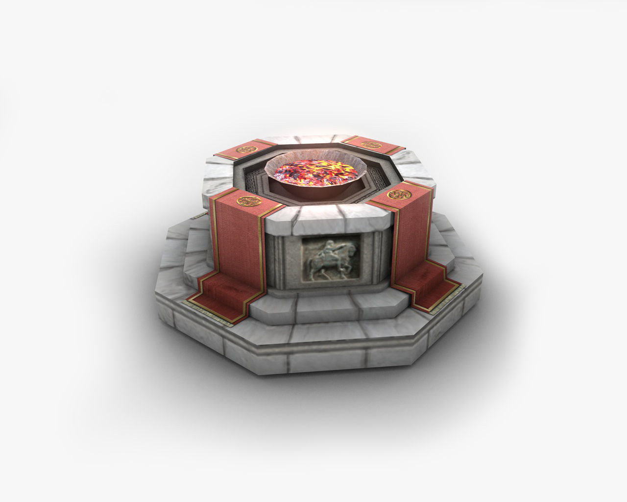 Shrine with fire pit brazier