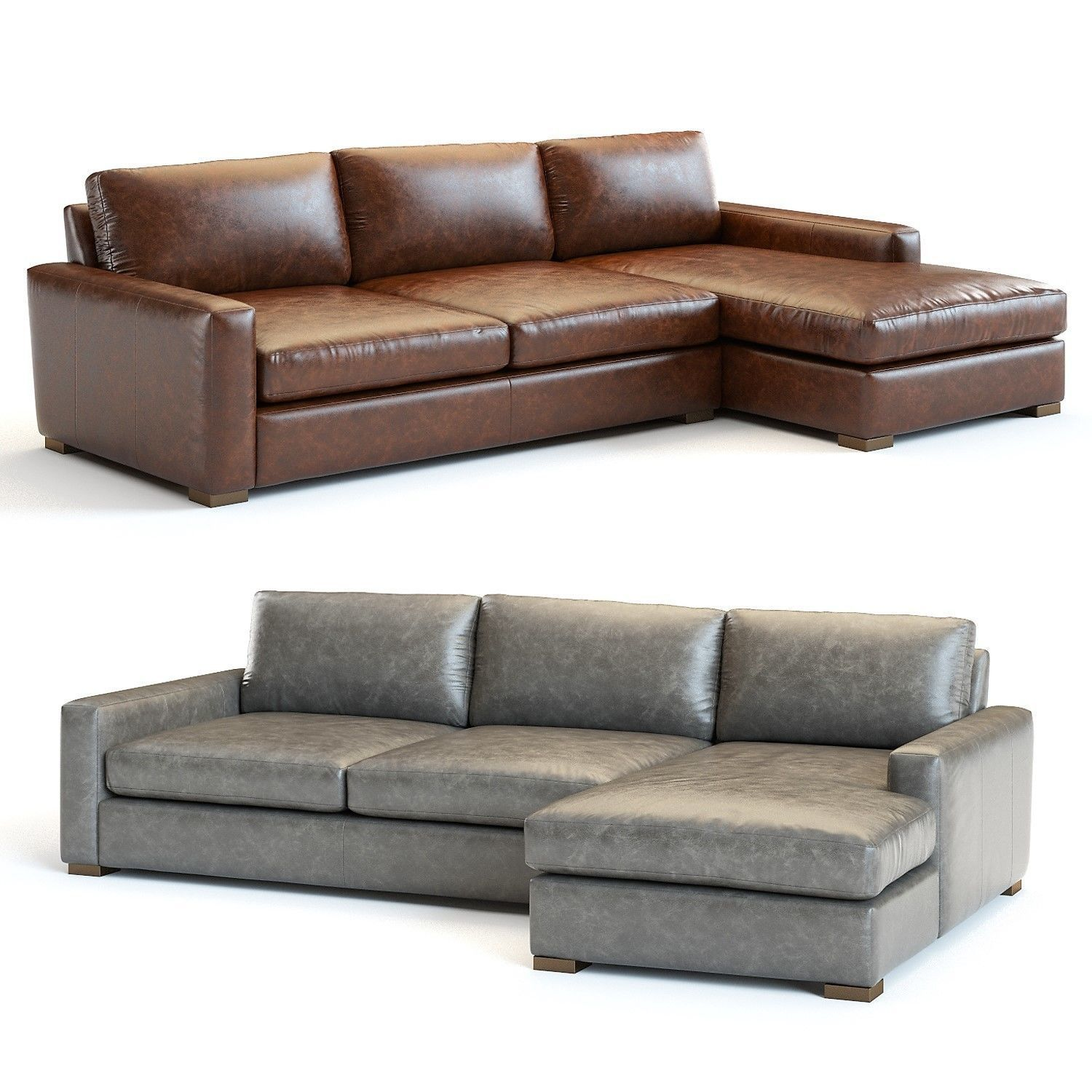 3D model Restoration Hardware - Maxwell Leather Sectional