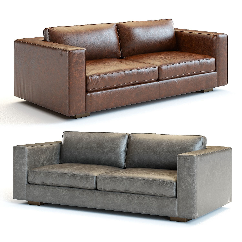 3D model Restoration Hardware   Maddox Leather Sofa