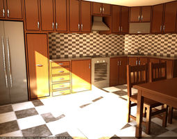 Kitchen 3D bake