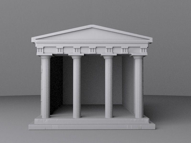 ancient greek temple free 3d model 3d printable stl
