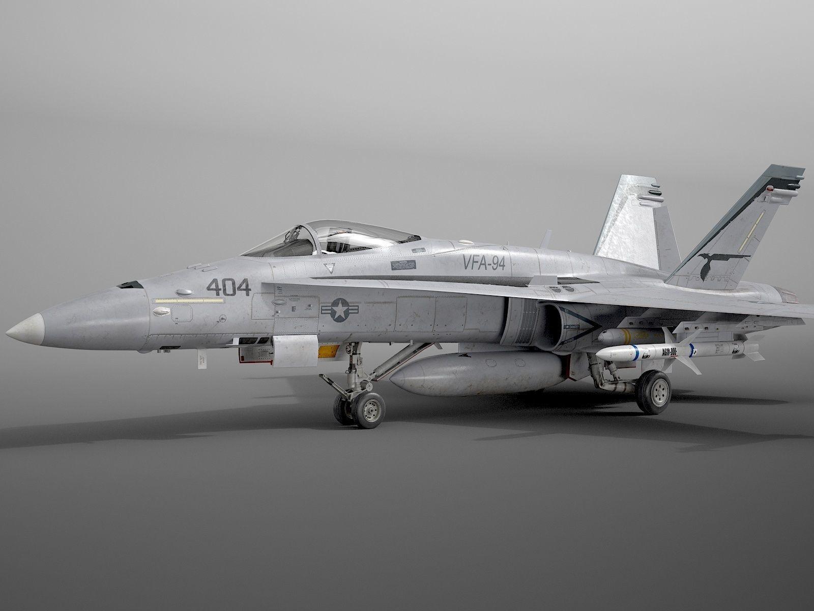 McDonnell Douglas FA-18C Hornet rigged