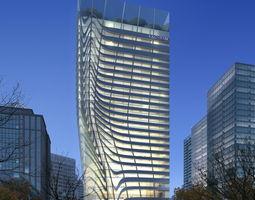 city hotel office building 07 3d