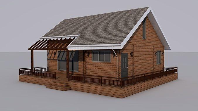 house  3d model obj mtl 3ds c4d 1