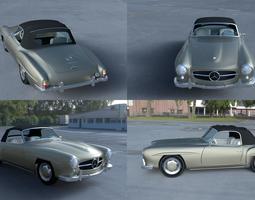 3D model Mercedes 190SL with Interior Soft Top