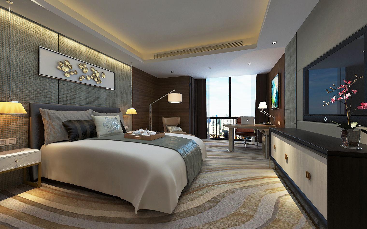 Modern Luxury Hotel Room Design  9D model