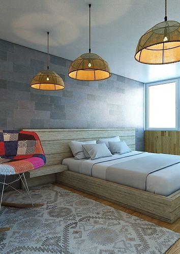 bedroom v3 3d model max obj mtl 3ds fbx 1