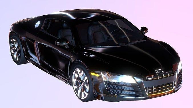 super car r8 audi 3d model 3d model fbx 1