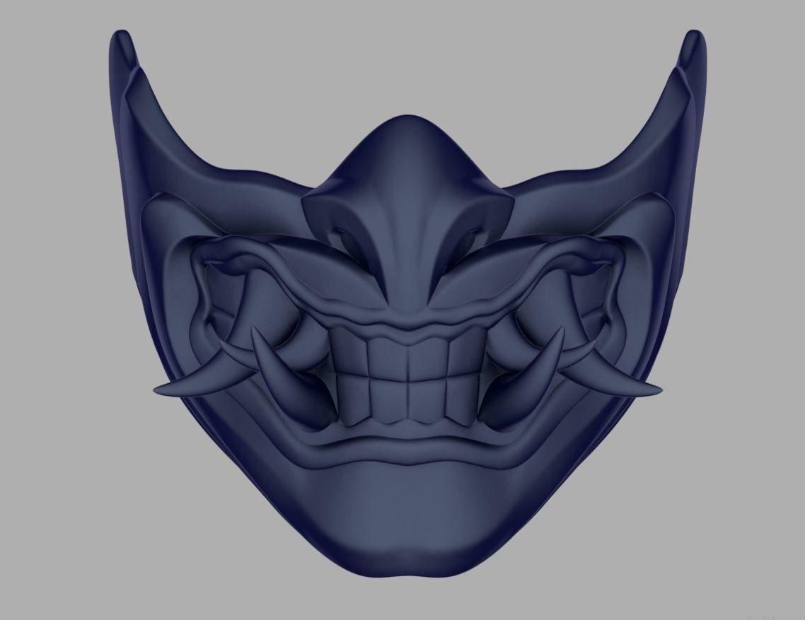 Sub Zero Samurai mask for face from Mortal Kombat 11